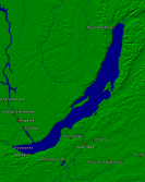Lake Baikal Towns + Borders 640x800