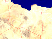 Libya Satellite + Borders 1600x1200