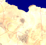 Libya Satellite + Borders 3200x3114