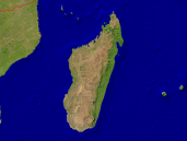 Madagascar Satellite + Borders 1600x1200