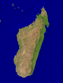 Madagascar Satellite + Borders 1824x2400