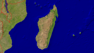 Madagascar Satellite + Borders 1920x1080