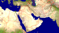 Middle East Satellite + Borders 1920x1080