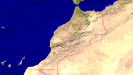 Morocco Satellite + Borders 1920x1080