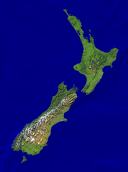 New Zealand Satellite + Borders 1183x1600