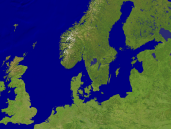 North Sea - Baltic Sea Satellite 1600x1200