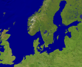 North Sea - Baltic Sea Satellite 1600x1315
