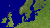 North Sea - Baltic Sea Satellite 1920x1080