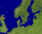 North Sea - Baltic Sea Satellite 3200x2629