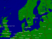 North Sea - Baltic Sea Towns + Borders 1600x1200