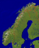 Norway Satellite + Borders 999x1200