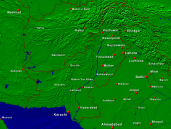 Pakistan Towns + Borders 1600x1200