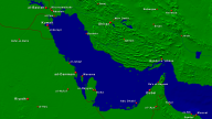 Persian Gulf Towns + Borders 1600x900