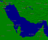 Persian Gulf Towns + Borders 800x671