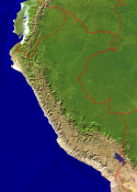 Peru Satellite + Borders 849x1200