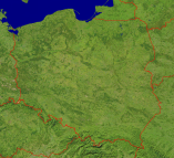 Poland Satellite + Borders 1200x1098