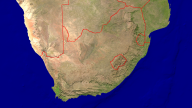 South Africa Satellite + Borders 1920x1080