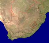 South Africa Satellite + Borders 3200x2805
