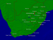 South Africa Towns + Borders 1600x1200