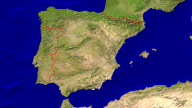 Spain Satellite + Borders 1920x1080