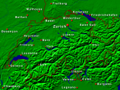 Switzerland Towns + Borders 640x480