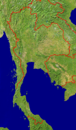 Thailand Satellite + Borders 469x800