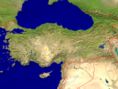 Turkey Satellite + Borders 1600x1200