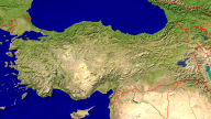 Turkey Satellite + Borders 1920x1080