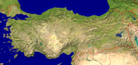 Turkey Satellite + Borders 2400x1133