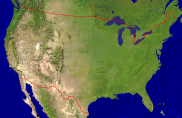 USA Satellite + Borders 1000x649