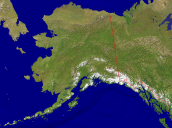 USA-Alaska Satellite + Borders 4000x2974
