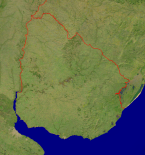 Uruguay Satellite + Borders 942x1000