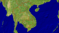 Vietnam Satellite + Borders 1600x900