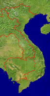 Vietnam Satellite + Borders 420x800